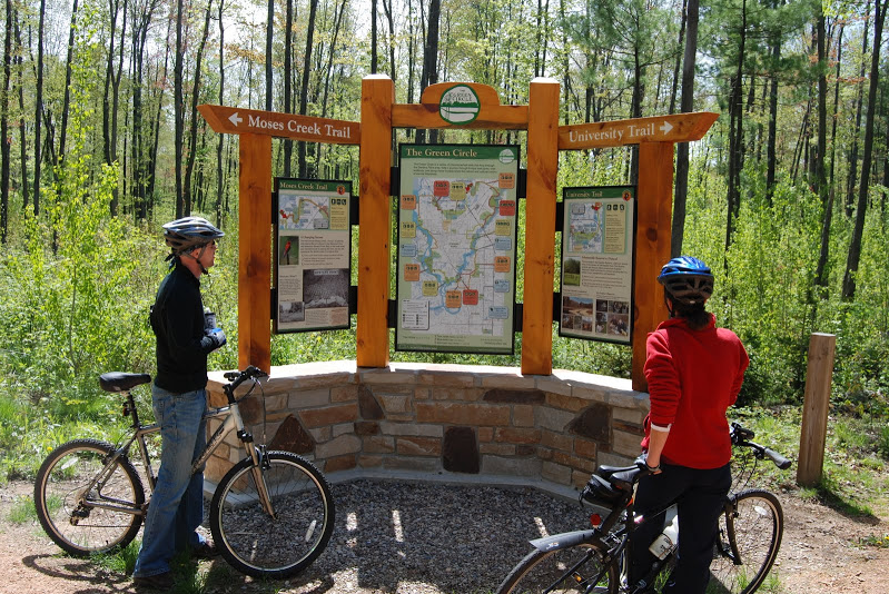 Biking is popular on the 27-mile Green Circle Trail in the Stevens Point Area.