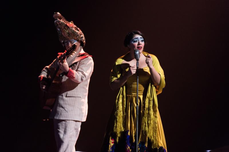 Musicians perform in Cirque du Soleil's Luzia