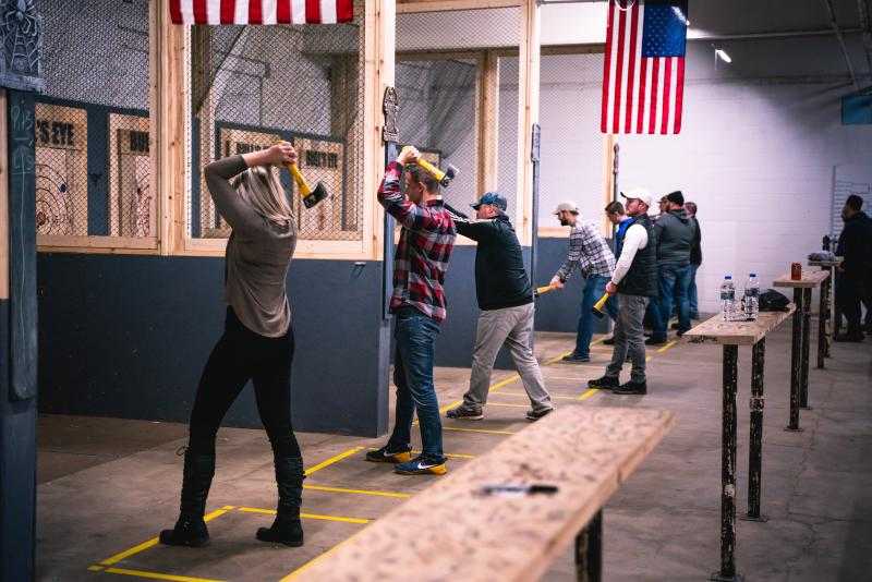 Bull's Eye Axe Throwing