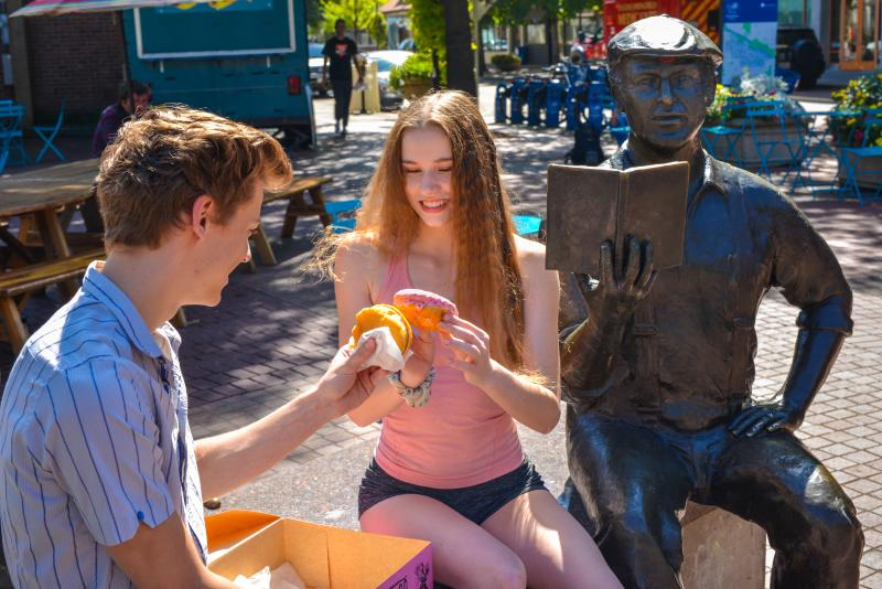 Voodoo Donuts at Kesey Square by Melanie Griffin