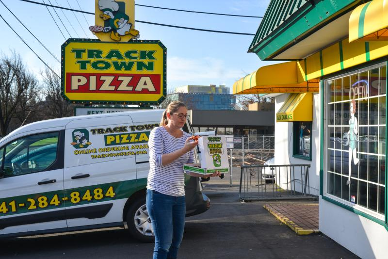 Track Town Pizza Eugene by Melanie Griffin