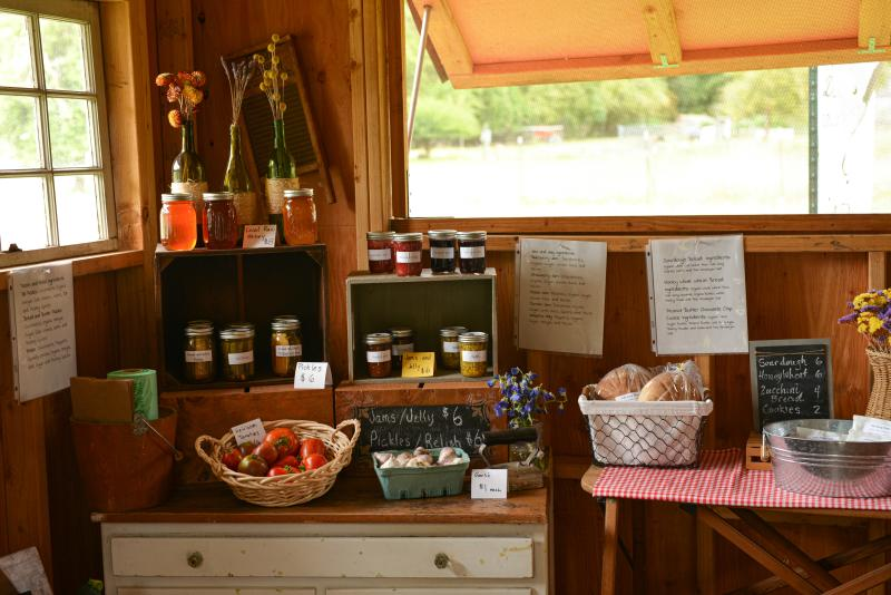 Oak Song Farm Stand by Melanie Griffin
