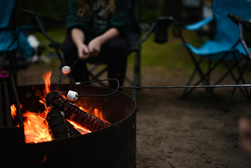 Camping and smores by Melanie Griffin