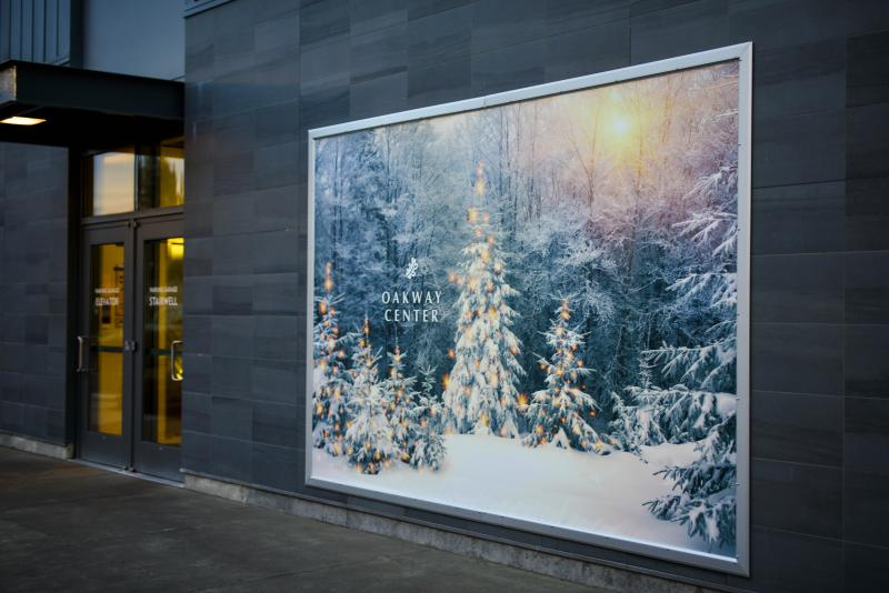 Oakway Center Holiday Mural by Melanie Griffin