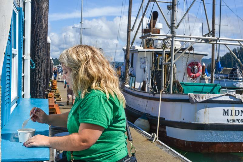 Crab Chowder at Novelli's on the Docks by Melanie Griffin