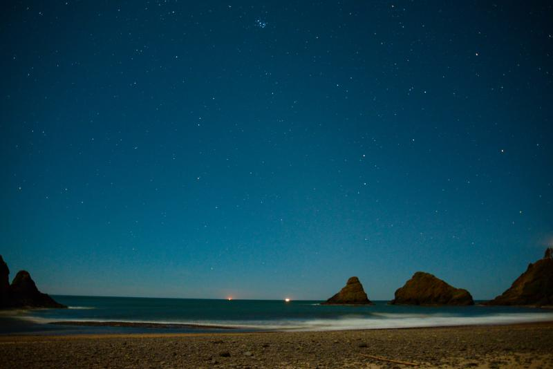 Heceta Head at Night by Melanie Griffin