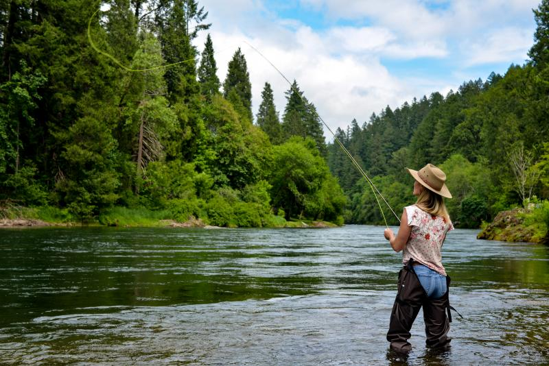 McKenzie River Fly Fishing by Melanie Griffin