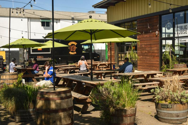 Oakshire Brewing patio by Melanie Griffin