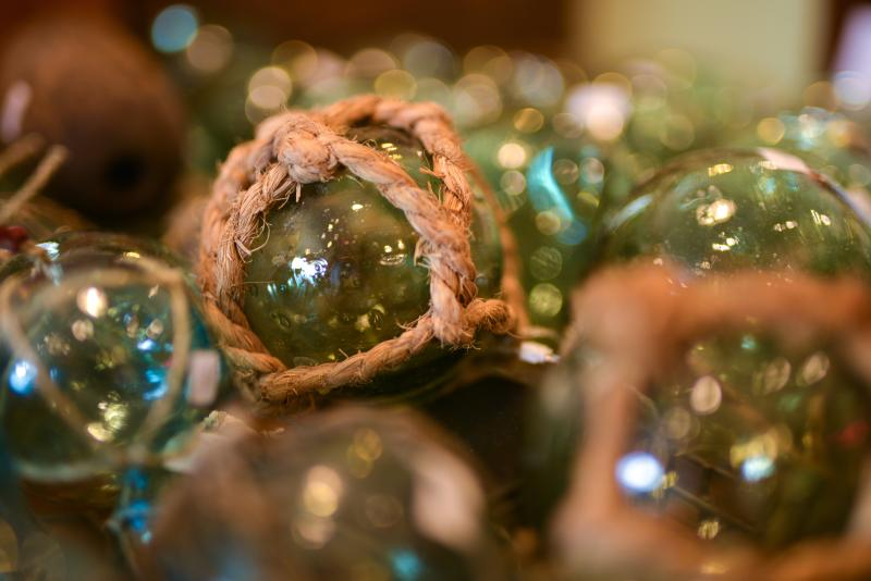 Glass Floats at Thrifty Threads by Melanie Griffin