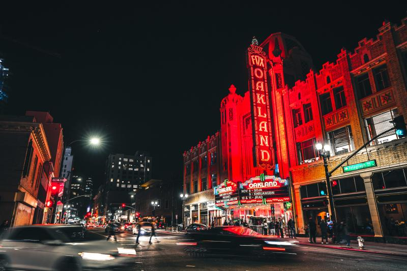Fox Theater at night
