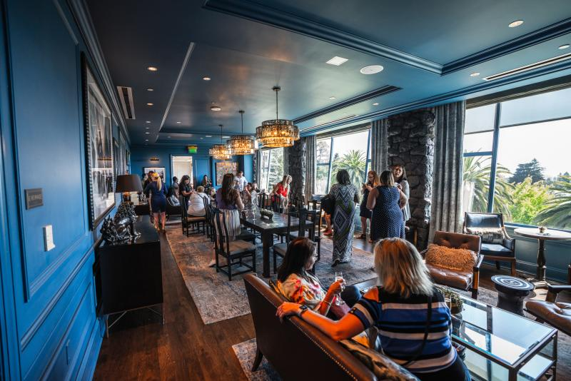 The Claremont Meeting Room is a premier spot for gathering after a day of meetings.