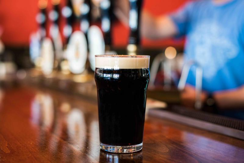 Glass of Dark Mild Beer at Freewheel Brewing Company in Redwood City