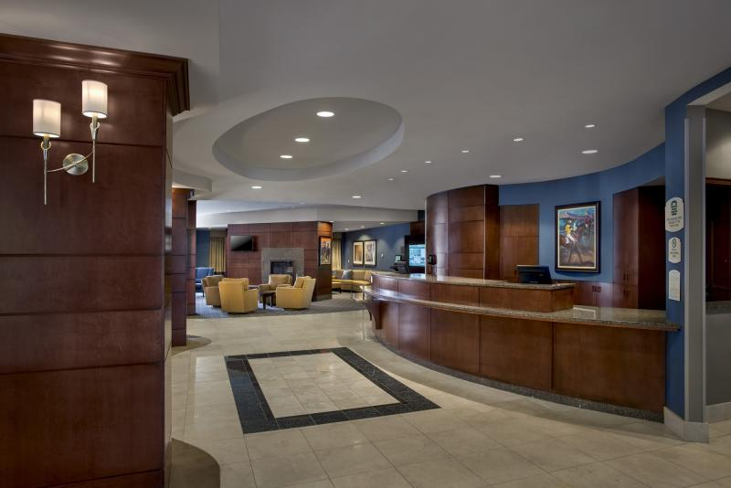 Lobby of the Courtyard Marriott