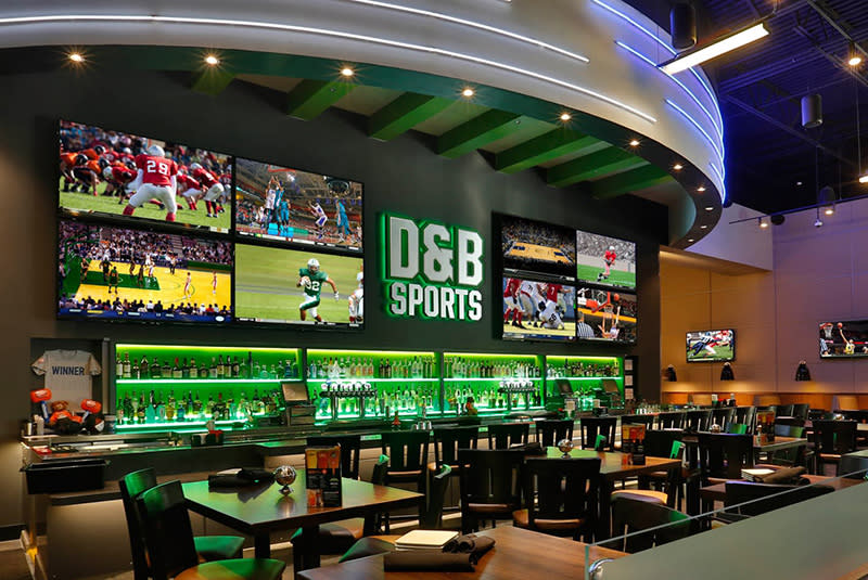 Dave & Buster's Sports room