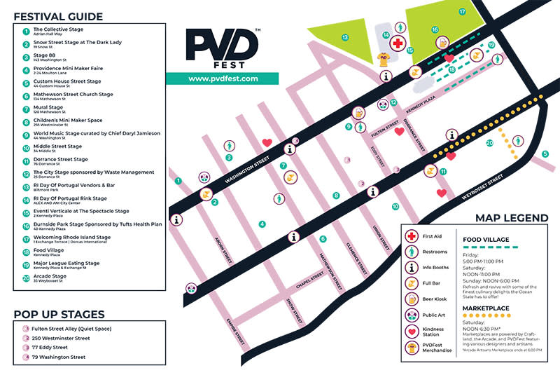 PVDFest Map