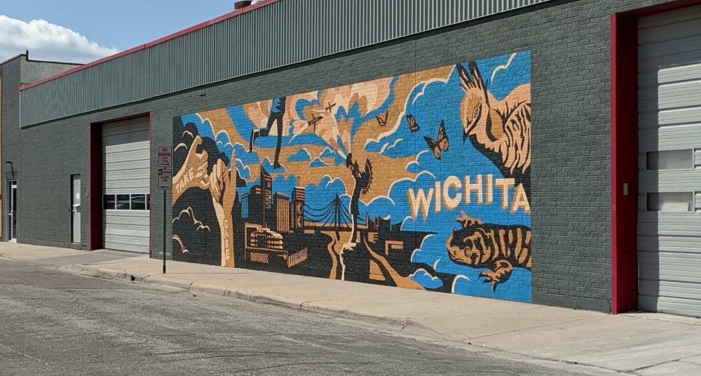 Dear Wichita, Take Care and Dream Big Mural