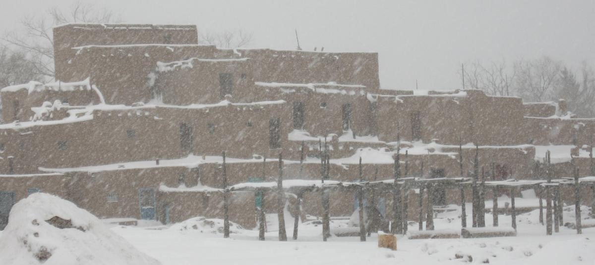Taos Pueblo in Snow