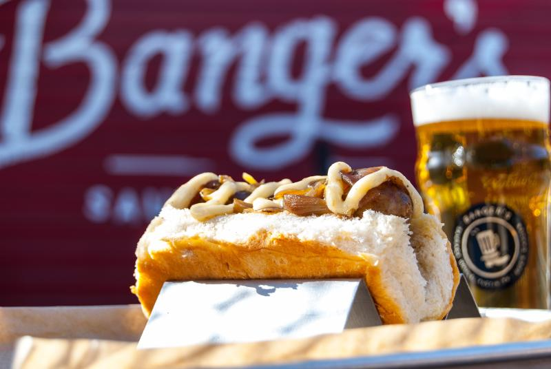 Sausage & beer from Bangers Sausage House and Beer Garden.