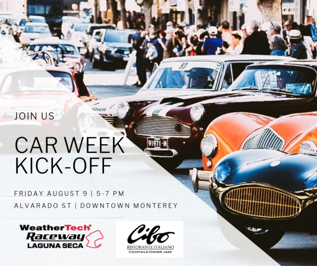 Car Week Kick Off Poster