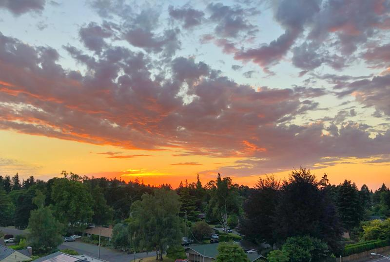 Sunset from Hyatt Place Skydeck Lounge by Melanie Griffin