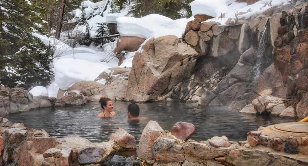 Strawberry Park Hot Springs in the Winter Time