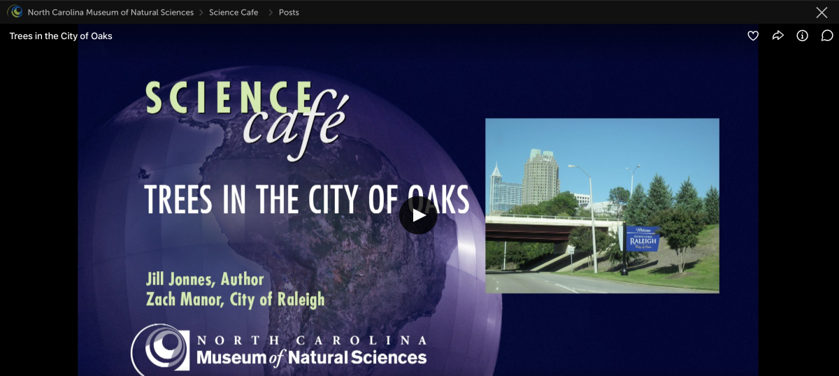 Science Cafe NCMNS