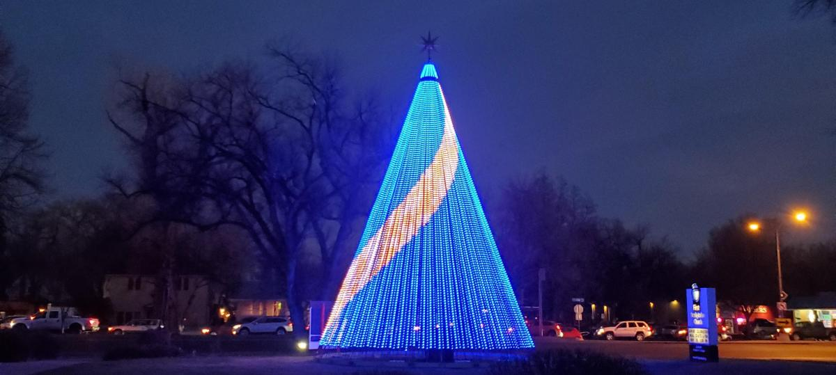 Nightlights Blue LED Tree