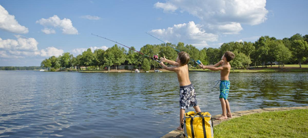 Kids Fishing Lake Header