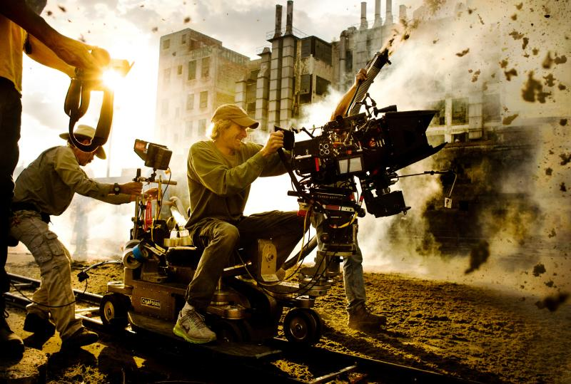 On set for Transformers 4 in Austin