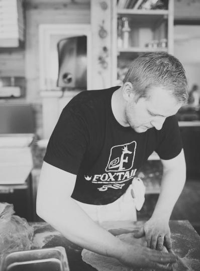 Chef Tyler Katkins from the Foxtail Cafe in Onanole, Manitoba