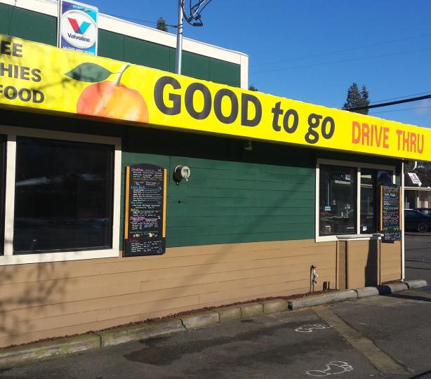 Good To Go drive through with vegetarian food options