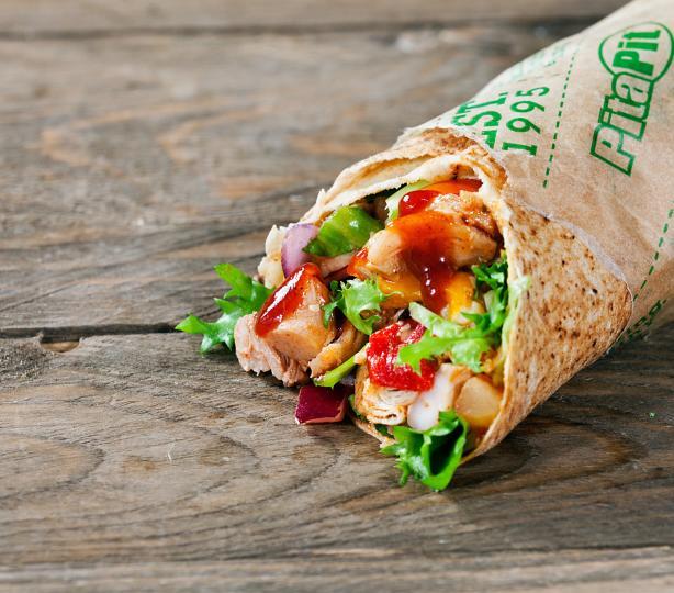 Pita Pit chicken veggie wrap