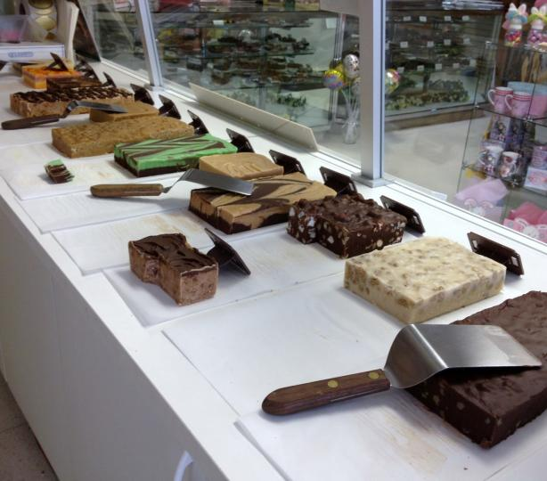 Wide selection of fudge flavors
