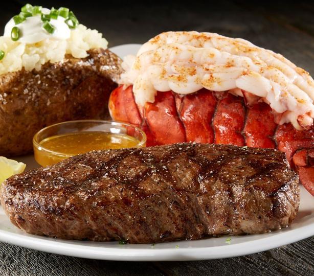 Steak & shrimp dinner