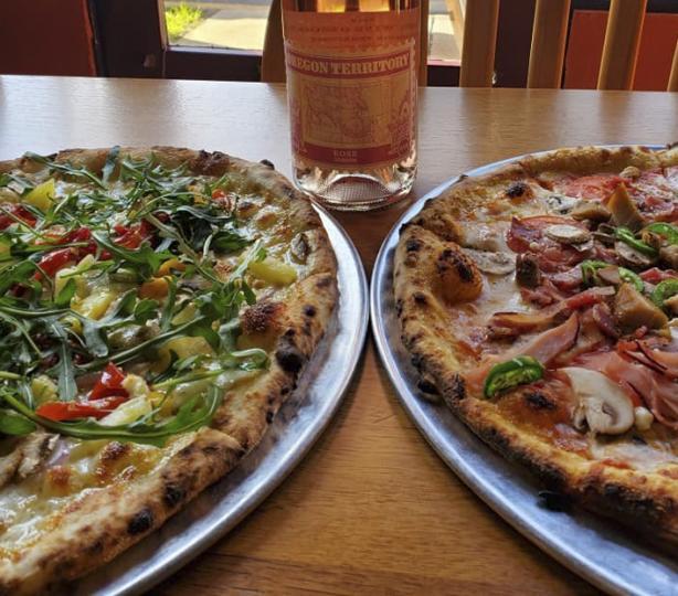 Fresh, handmade flatbread pizza