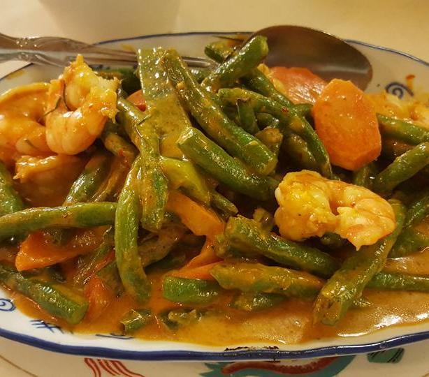 Veggie and shrimp bowl