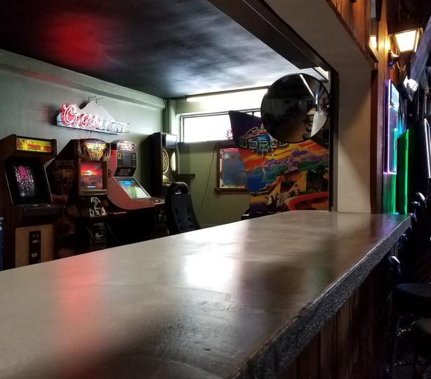 Bar and arcade space
