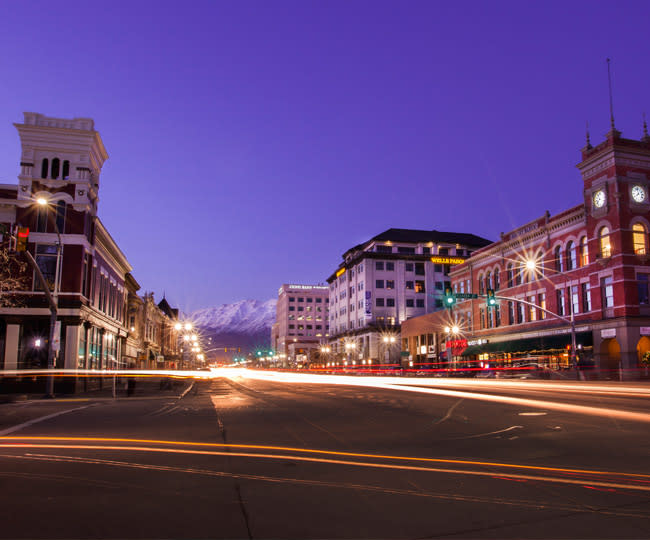 Downtown Provo Nighttime