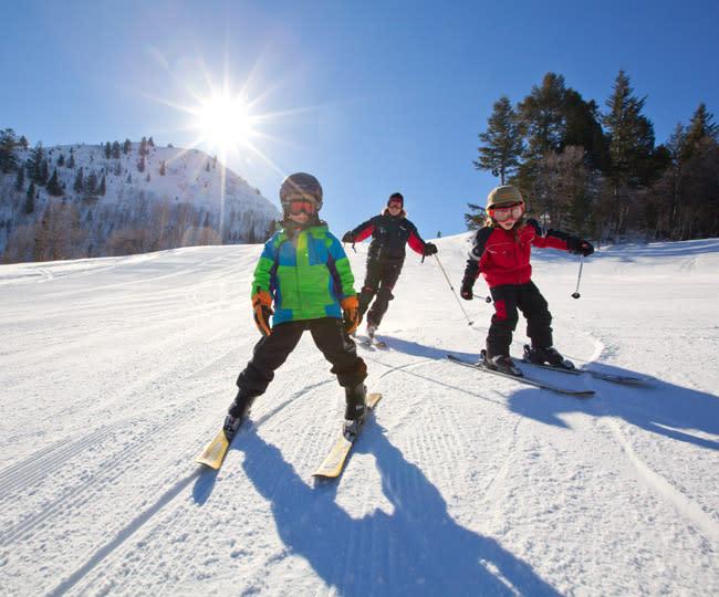 Kids Skiing at Sundance Mountain Resort