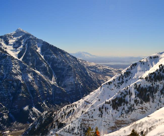 Views of Utah Lake from Sundance Mountain Resort - Winter