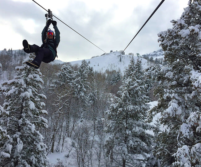 Winter Ziptour at Sundance Mountain Resort