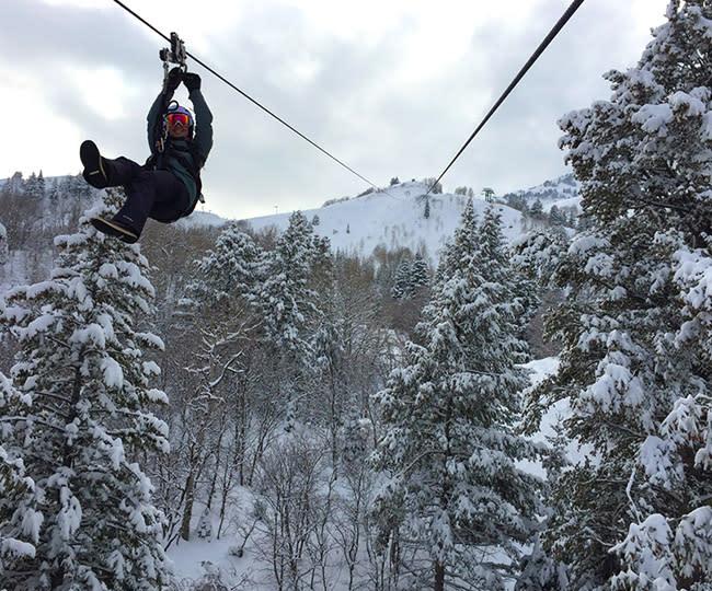 Winter Ziptour at Sundance Mountain Resort