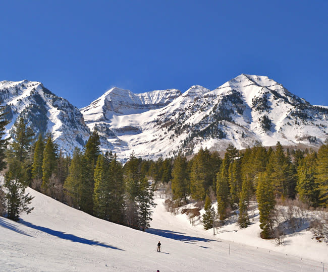 Mount Timpanogos Views at Sundance Mountain Resort - Winter Snow