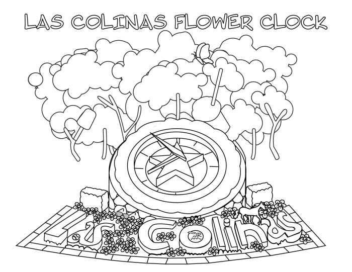 Flower Clock Activity Page