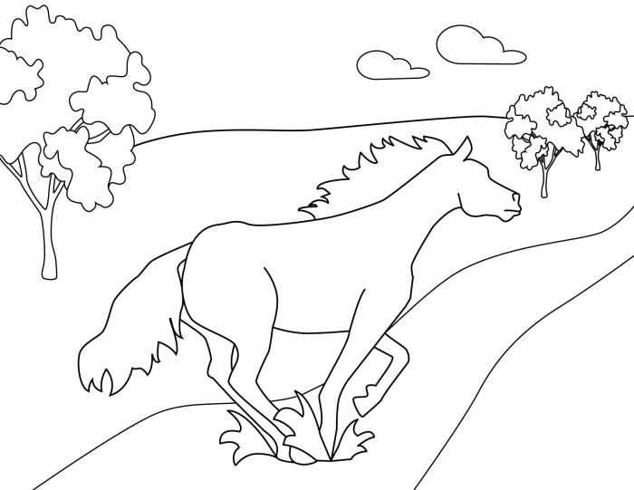 Mustangs Coloring Page