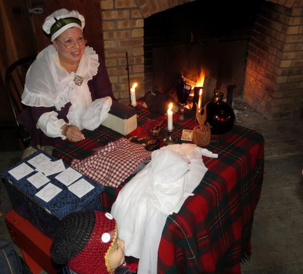 Costumed Interpreter at the Old Fort