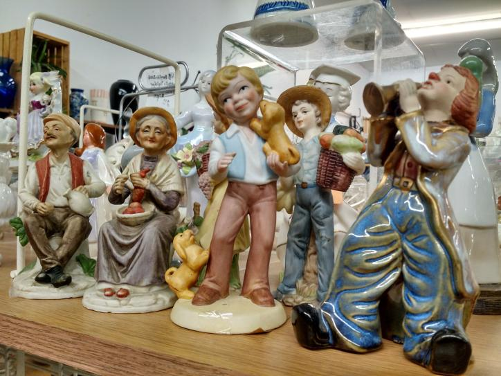 These glass figurines and more can be find at Peddlers