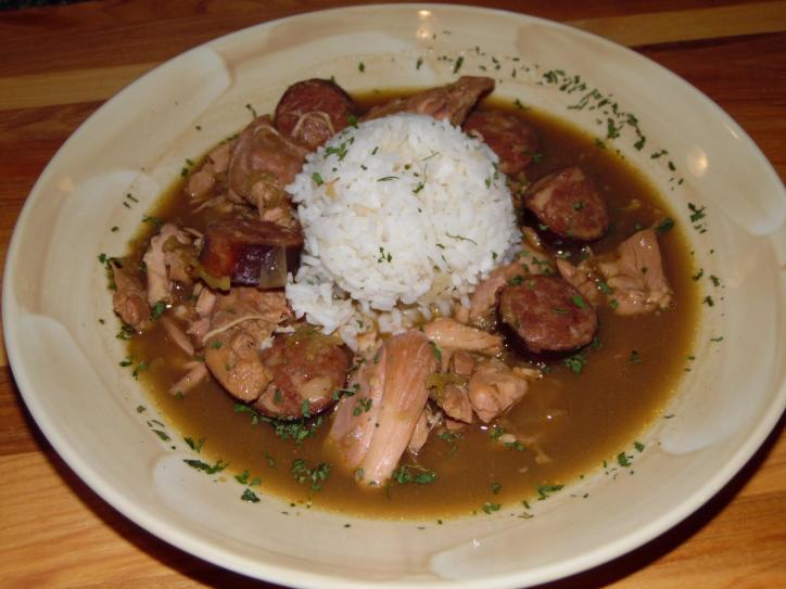 Delish chicken and sausage gumbo from Chastains in Lake Charles, La.