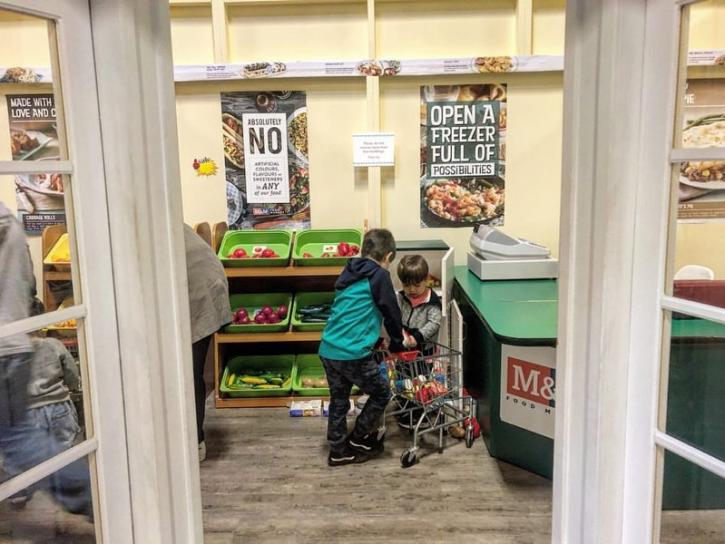 Grocery shopping at The World of Kidtropolis