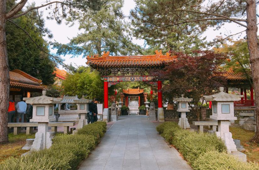 Entrance to the International Buddhist Temple